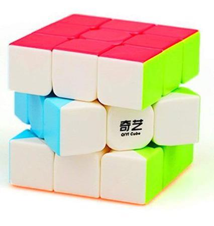 Imagem de Cubo Mágico Profissional  3x3x3 Qi Yi Warrior W Stickerless - Original