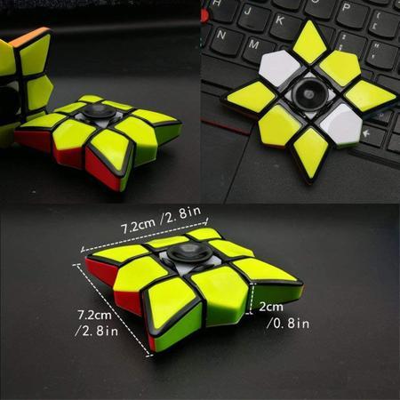 Imagem de Cubo Magico Rubiks Gyro Giratorio Profissional Fidget Spinner