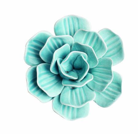 Imagem de Decor Flor Azul em Cerâmica 09847 Mart