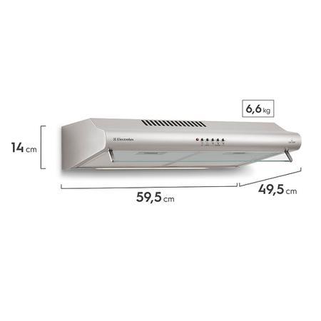 Imagem de Depurador 60cm de Parede Inox (DE60X)