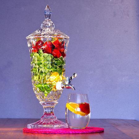 Imagem de Dispenser para Bebida de Cristal de Chumbo com Pé Adamant 2,2L Rojemac