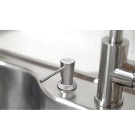 Imagem de Dosador de Sabão Tramontina em Aço Inox com Recipiente Plástico 500 ml