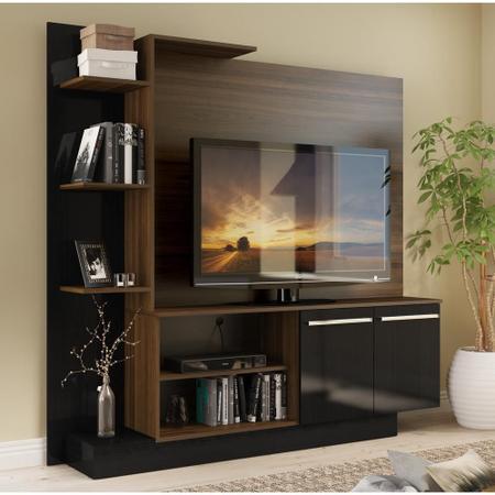 Imagem de Estante Home Theater para TV até 55 Pol. Denver Multimóveis Madeirado/Preto