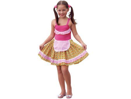 Imagem de Fantasia Infantil Vestido Junina com Avental