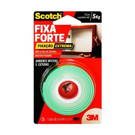 Imagem de Fita Dupla Face Fixa Forte 25X2 Externo 5KG 3M