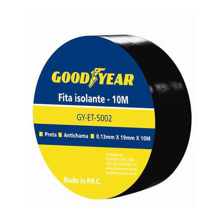 Imagem de Fita Isolante 10Mx19mm Goodyear Pacote Com 10Un