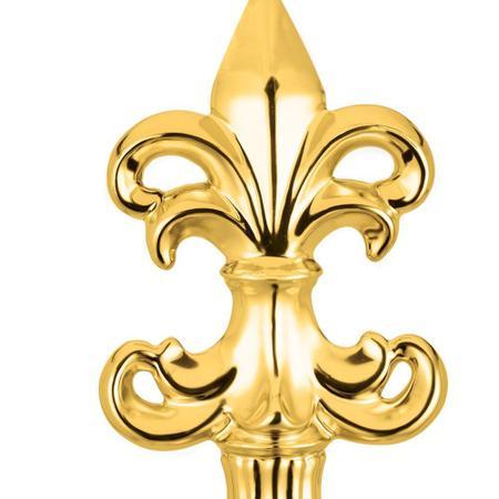 Imagem de Flor de Lis Dourada Em Cerâmica 27 x 13,5 x 8,5cm D'Rossi