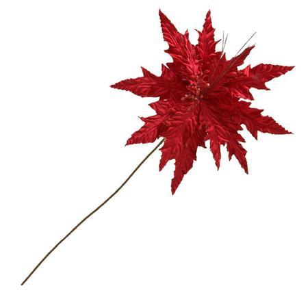 Imagem de Flor Natalina Para Arranjos 74x38cm Vermelha Espressione Christmas