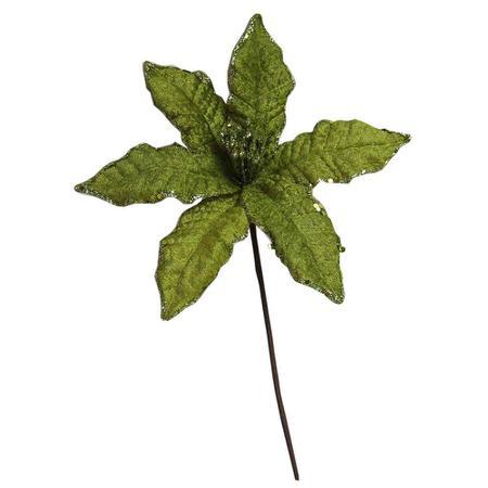 Imagem de Flor Natalina Para Arranjos Verde 30cm  Santini Christmas-047-180830