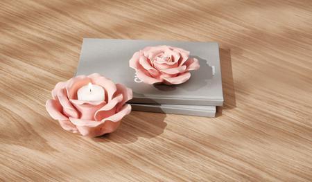Imagem de Flor Rosa em Cerâmica
