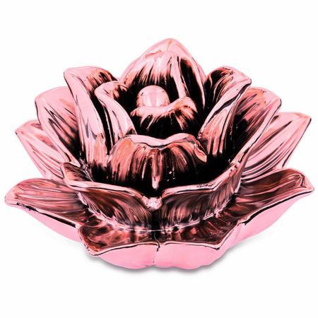 Imagem de Flor Rose Gold em Cerâmica 7689 Mart