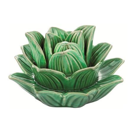 Imagem de Flor verde em ceramica grande