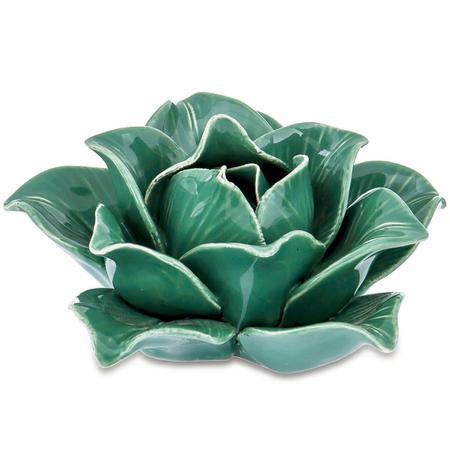 Imagem de Flor Verde em Cerâmica