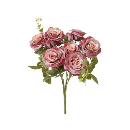 Imagem de Flores artificiais Buquê de Rosas Diana Rosa Envelhecida Linha Permanente Formosinha