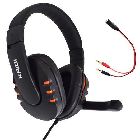 Imagem de Fone de Ouvido Gamer Pc USB Headset P2 Kaidi KD-762 Over Ear - LARANJA