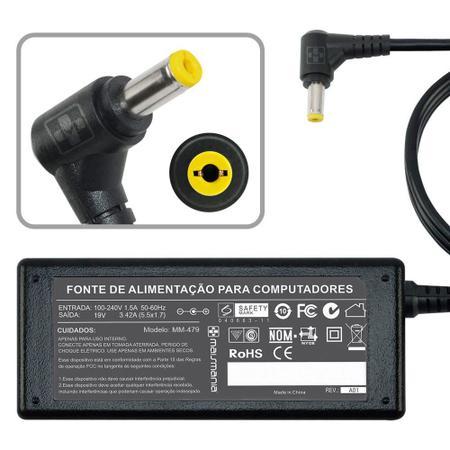 Imagem de Fonte Carregador MM 65W Notebook Acer Aspire PA-1650-86