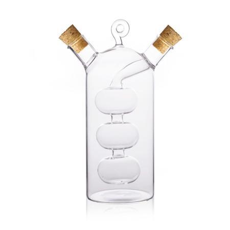 Imagem de Galheteiro 2 em 1 óleo e vinagre em vidro borosilicato Bon Gourmet