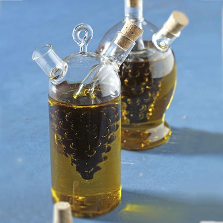 Imagem de Galheteiro 2 em 1 óleo e vinagre em vidro borosilicato Bon Gourmet Uva