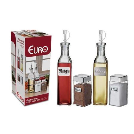 Imagem de Galheteiro Vidro Euro Home 4 Peças - Label