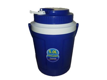 Imagem de Garrafa Botijão Térmico Garrafão Cantil Redondo 5L Container