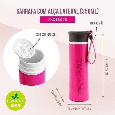 Imagem de Garrafa com Alça Lateral 350ml Jacki Design Fitness