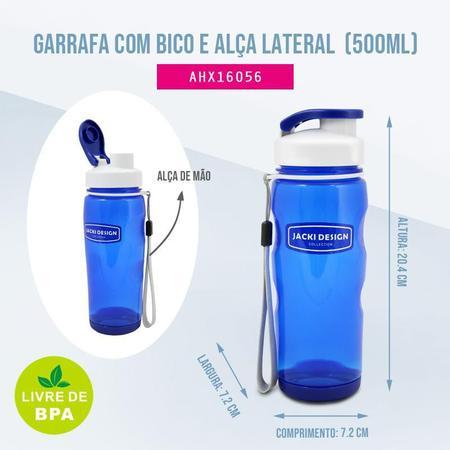 Imagem de Garrafa com Bico e Alça Lateral 500 ml Jacki Design Fitness