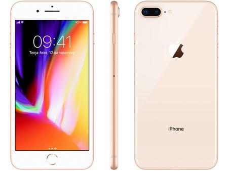 "Imagem de iPhone 8 Plus Apple 64GB Dourado 4G Tela 5,5"""