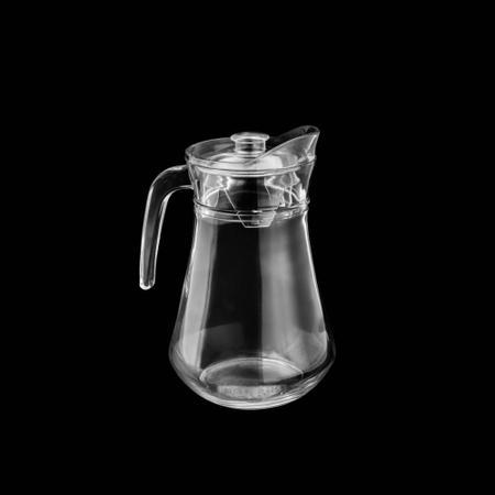 Imagem de Jarra de Vidro 1,3 Litros com Tampa Plástica Acrílico Bistro Lyor Presentes - 7309