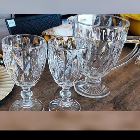 Imagem de Jarra De Vidro Diamante 1,1l Transparente Suco Vinho Àgua