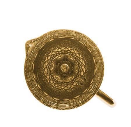 Imagem de Jarra de Vidro Dourado Metalizado 1 Litro Mesa Posta 20x14 28305