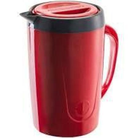 Imagem de Jarra Térmica 2 Litros Caribe Vermelha Para Suco Ou Água Unitermi