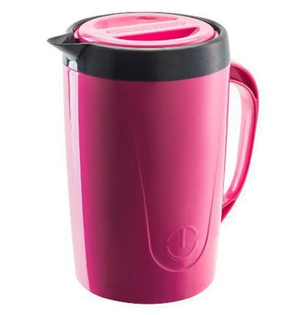 Imagem de Jarra termica caribe rosa com tampa e trava 2l