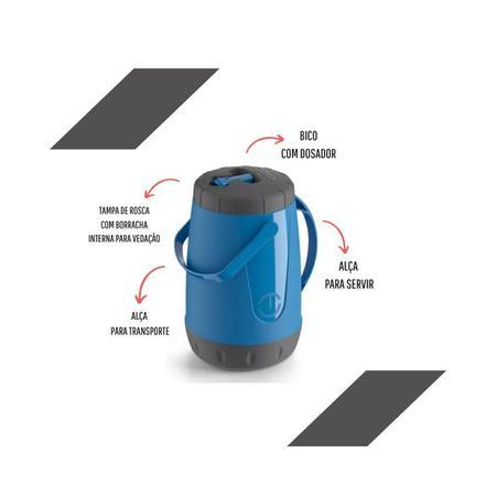 Imagem de Jarra termica pavia 2,5l azul com bico dosador unitermi