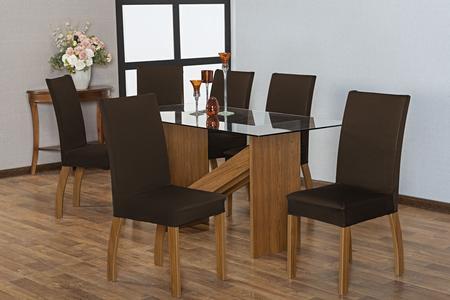 Imagem de Jogo capa de cadeira 4 lugares malha coladinha marrom