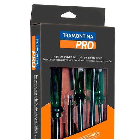 Imagem de Jogo de chave fenda e phillips isolada com 06 peças - Tramontina PRO