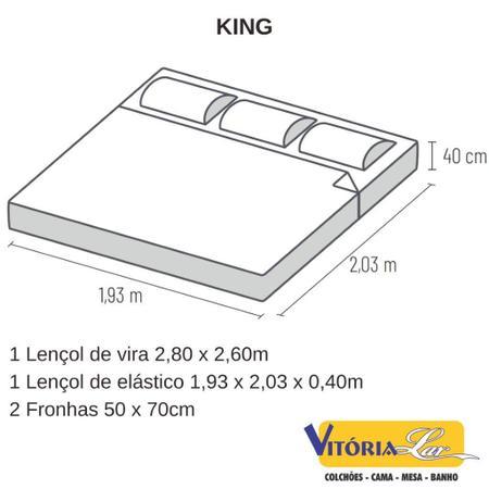 Imagem de Jogo de Lençol King Percal 300 Fios Toque Acetinado Satinée Kacyumara Extra Macio Super Luxo
