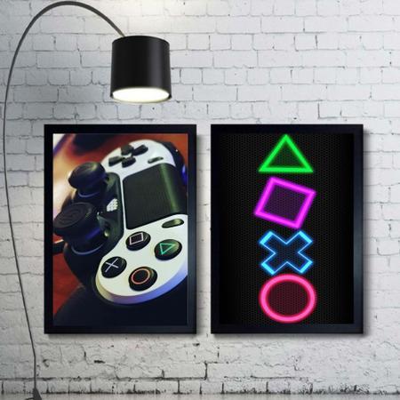 Imagem de Kit 2 Quadros Decorativos Gamer Mod 54 21x30cm