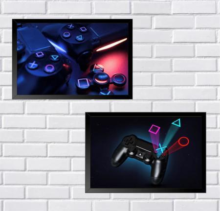 Imagem de Kit 2 Quadros Decorativos Gamer Mod 63 30x42cm