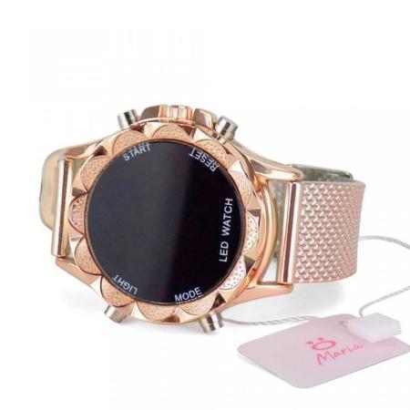 Imagem de Kit 2 Relógio Feminino Digital Led Dourado