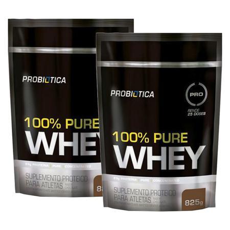 Imagem de Kit 2x 100% Pure Whey Protein 825g Refil Probiotica