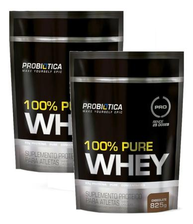 Imagem de Kit 2x Whey Protein 100% Pure Whey Probiótica Refil 825g