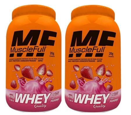 Imagem de Kit 2x Whey Protein Quality 2x 810g Muscle Full