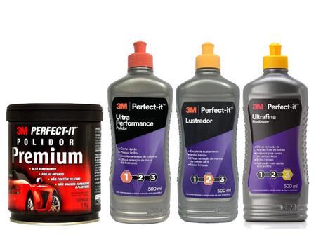 Imagem de Kit 3M Perfect-It Polidor + Liquido Lustrador + Ultrafina