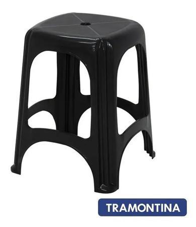 Imagem de Kit 4 Bancos Plastico Banqueta Suporta Até 100 Kg Tramontina