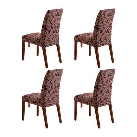 Imagem de Kit 4 Capa de Cadeira Master Estampada Alisso Sultan