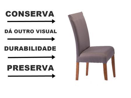 Imagem de Kit 6 Capas Para Cadeira Jantar Malha Com Elástico Estampada