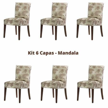 Imagem de Kit 6 Capas para Cadeira Malha - Mandala