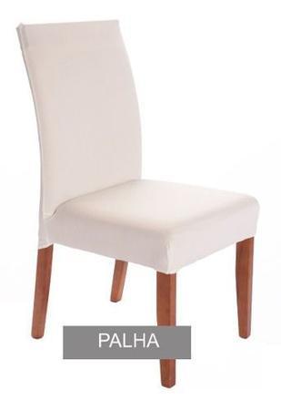 Imagem de Kit 8 Capas De Cadeira Malha Gel Elástica Para Sala Cozinha