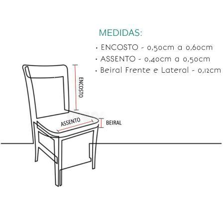 Imagem de Kit Capa de Cadeira 4 Lugares Estampada Para Mesa de Cozinha
