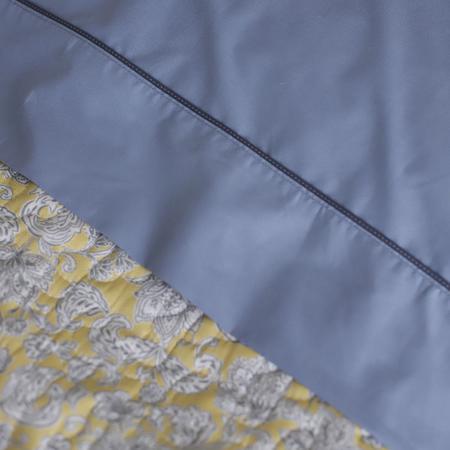 Imagem de Kit Colcha Micromatelassê Boutis Lia + Jogo de Lençol Percal Total Mix Clean Tinto 5 Peças ARTEX - Solteiro King - Amarelo/azul